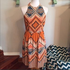 Anthropologie Harlyn silk dress